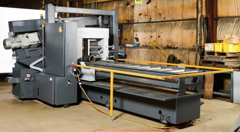HYDMECH H-22A-120 – Automatic Long Bar Feed Horizontal Band Saw, New Machinery