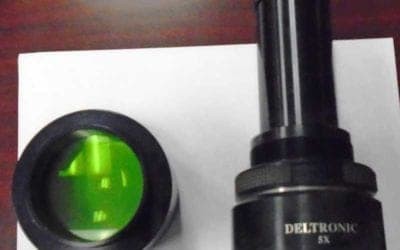 Used Comparator Lense | Deltronic 5X Comparator Lens fits DH214
