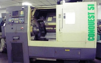 Used Turning Center   Hardinge Conquest T51 CNC Lathe Turning Center