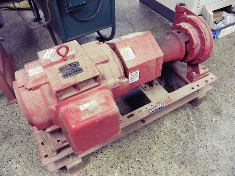 Used Machinery | Bell & Gossett 30 Hp Series 1510 Base Mounted End Suction Pump