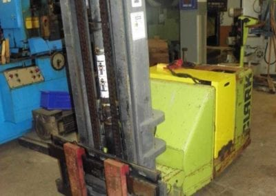 Used Fork Lift | CLARK 3000 Lbs Model ST30B Walk Behind Stacker Fork Lift Truck | Advanced Machinery Companies