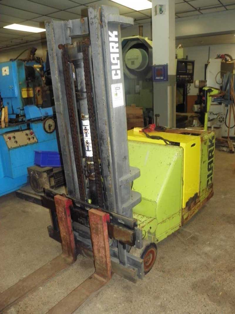 Used Fork Lift | CLARK 3000 Lbs Model ST30B Walk Behind Stacker Fork Lift Truck | Advanced Machinery Companies