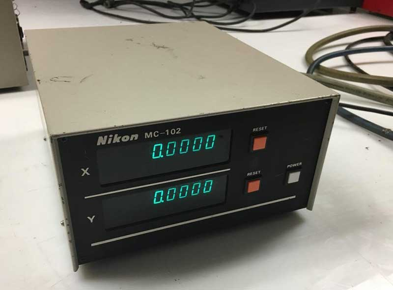 Used Digital Readout Box | Nikon MC-102 2-Axis Digital Readout Box DRO