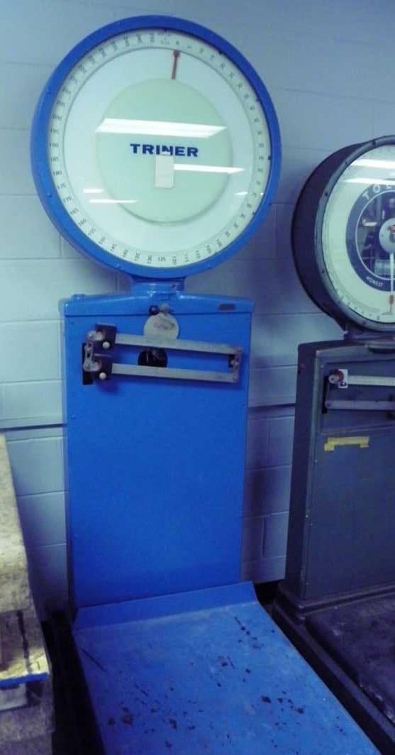 Used Industrial Scale Triner Model 11417 Dial Type Industrial Scale 400 lbs capacity