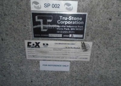 """Tru-Stone 130"""" x 48"""" x 25"""" Grade A Granite Surface Plate with Stand - Advanced Machinery Companies"""