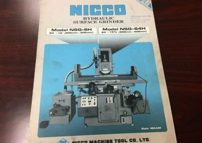 "NICCO Model NSG-6 Hydraulic Used Surface Grinder, 12"" x 24"" 