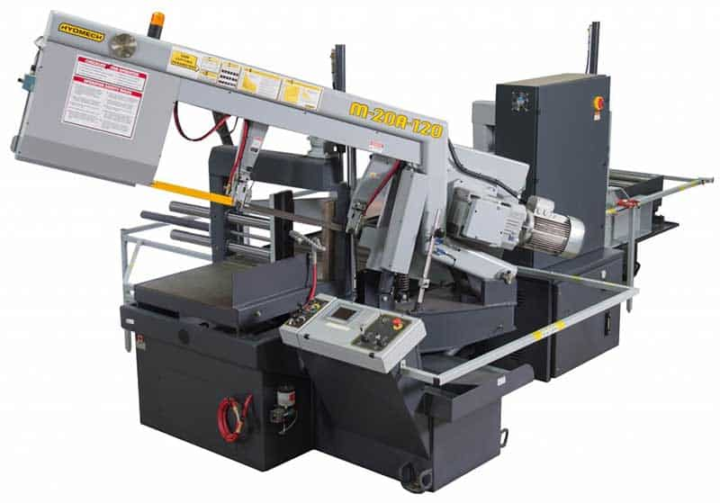HYDMECH M-20A-120 — Automatic Band Saw with Long Bar Feed, New Machinery